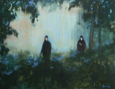 searchers, oil on canvas, 130x165cm, 2012